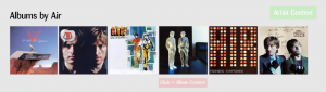 A media player UI of dreams: Artist Context
